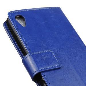 Horse PU kožené pouzdro na Sony Xperia X - modré - 3