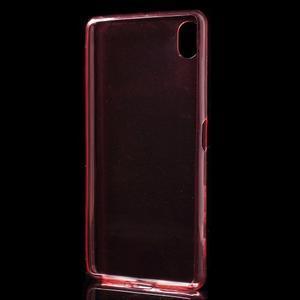 Ultratenký 0.5 mm gelový obal na Sony Xperia X - červený - 3
