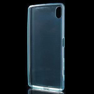 Ultratenký 0.5 mm gelový obal na Sony Xperia X - světlemodrý - 3