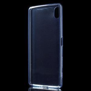 Ultratenký 0.5 mm gelový obal na Sony Xperia X - tmavěmodrý - 3