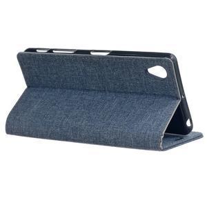 Texture pouzdro na mobil Sony Xperia X - tmavěmodré - 3