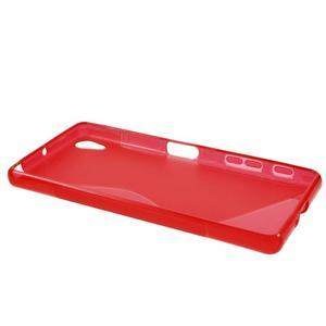 S-line gelový obal na Sony Xperia X - červený - 3