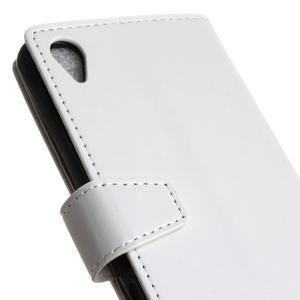 Knížkové PU kožené pouzdro na Sony Xperia X - bílé - 3