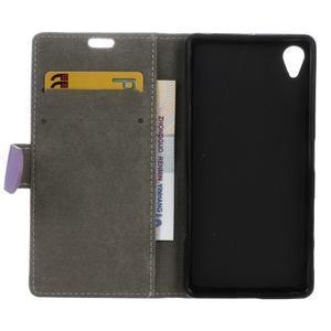 Walle peněženkové pouzdro na Sony Xperia X - fialové - 3