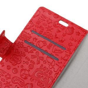 Cartoo peněženkové pouzdro na Sony Xperia X - červené - 3