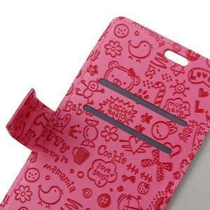 Cartoo peněženkové pouzdro na Sony Xperia X - rose - 3