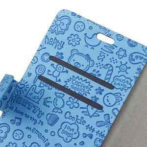 Cartoo peněženkové pouzdro na Sony Xperia X - modré - 3