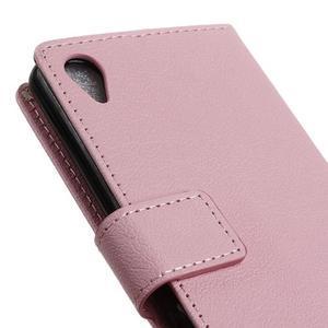 Grain koženkové pouzdro na Sony Xperia X - růžové - 3