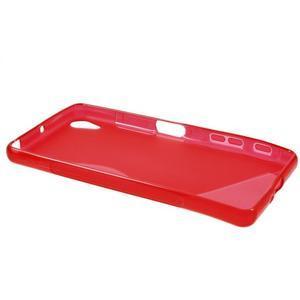S-line gelový obal na mobil Sony Xperia X Performance - červený - 3