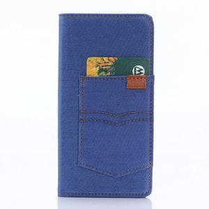 Jeans peněženkové pouzdro na mobil Sony Xperia XA - modré - 3