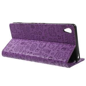 Cartoo peněženkové pouzdro na mobil Sony Xperia XA - fialové - 3