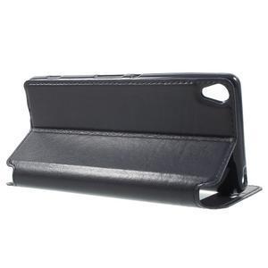 Royal PU kožené pouzdro s okýnkem na Sony Xperia XA - tmavěmodré - 3