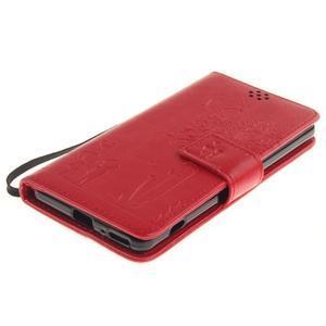 Dandely PU kožené pouzdro na mobil Sony Xperia XA - červené - 3