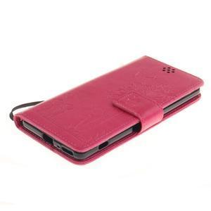 Dandely PU kožené pouzdro na mobil Sony Xperia XA - rose - 3