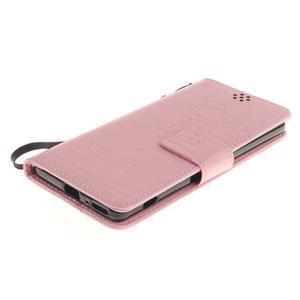 Dandely PU kožené pouzdro na mobil Sony Xperia XA - růžové - 3