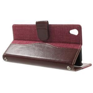 Jeansy PU kožené/textilní pouzdro na Sony Xperia XA - rose - 3