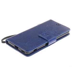Dandely PU kožené pouzdro na mobil Sony Xperia XA - modré - 3