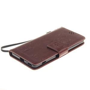 Dandely PU kožené pouzdro na mobil Sony Xperia XA - hnědé - 3