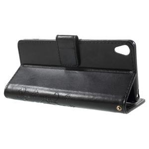 Butterfly pouzdro na mobil Sony Xperia XA - černé - 3