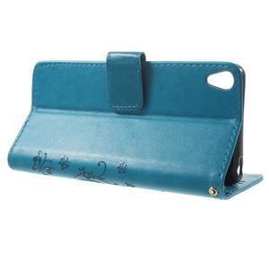 Butterfly pouzdro na mobil Sony Xperia XA - modré - 3