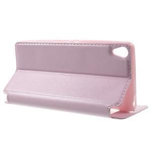 Royal PU kožené pouzdro s okýnkem na Sony Xperia XA - růžové - 3