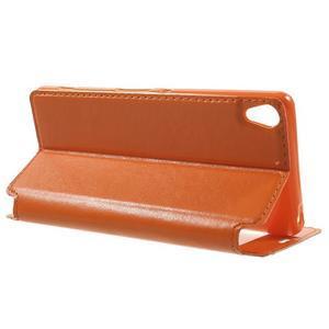 Royal PU kožené pouzdro s okýnkem na Sony Xperia XA - oranžové - 3