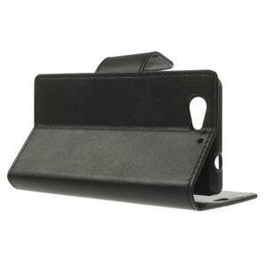 Sonata PU kožené pouzdro na mobil Sony Xperia Z1 Compact - černé - 3