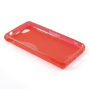 Gelové S-line pouzdro na Sony Xperia Z1 Compact - červené - 3