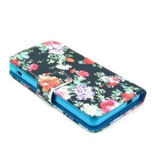 Pouzdro na mobil Sony Xperia Z1 Compact - květinová koláž - 3