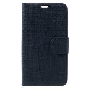 Clothy PU kožené pouzdro na Sony Xperia Z1 Compact - tmavěmodré - 3