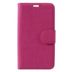 Clothy PU kožené pouzdro na Sony Xperia Z1 Compact - rose - 3
