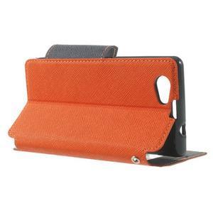 Okýnkové pouzdro na mobil Sony Xperia Z1 Compact - oranžové - 3