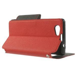 Okýnkové pouzdro na mobil Sony Xperia Z1 Compact - červené - 3