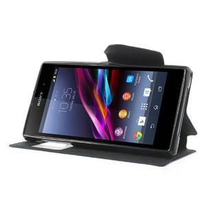 Okýnkové pouzdro na mobil Sony Xperia Z1 - tmavěmodré - 3
