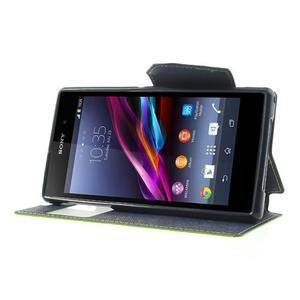 Okýnkové pouzdro na mobil Sony Xperia Z1 - zelené - 3