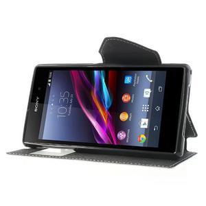 Okýnkové pouzdro na mobil Sony Xperia Z1 - bílé - 3