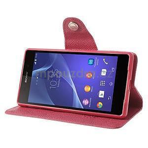 Stylové peněženkové pouzdro na Sony Xperia Z2 - rose - 3