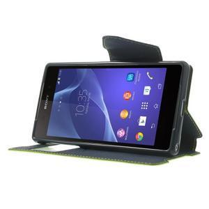 Okýnkové pouzdro na mobil Sony Xperia Z2 - zelené - 3