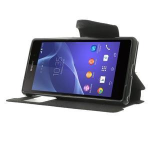 Okýnkové pouzdro na mobil Sony Xperia Z2 - černé - 3