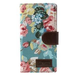 Květinové pouzdro na mobil Sony Xperia Z2 - modré - 3