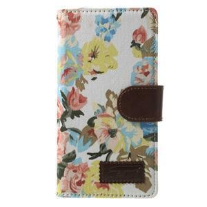 Květinové pouzdro na mobil Sony Xperia Z2 - bílé - 3