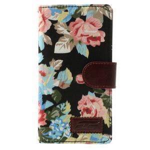 Květinové pouzdro na mobil Sony Xperia Z2 - černé - 3