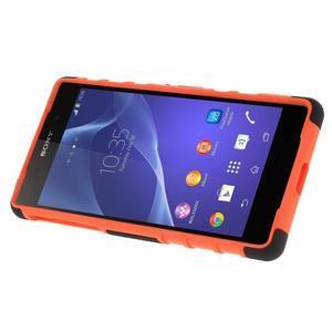 Outdoor odolný kryt na mobil Sony Xperia Z2 - oranžový - 3