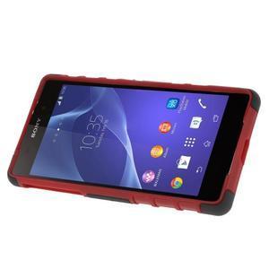 Outdoor odolný kryt na mobil Sony Xperia Z2 - červený - 3