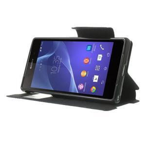Okýnkové pouzdro na mobil Sony Xperia Z2 - tmavěmodré - 3