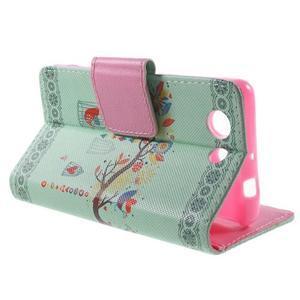 Pictu peněženkové pouzdro na Sony Xperia Z3 Compact - ptáček v kleci - 3