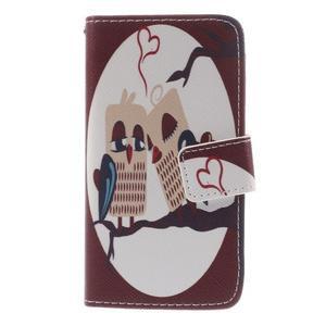 Knížkové pouzdro na mobil Sony Xperia Z3 Compact - zamilovaní ptáčci - 3