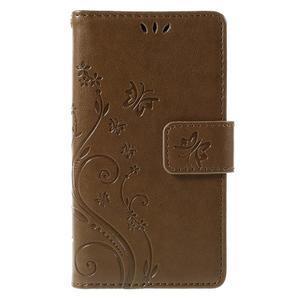 Butterfly PU kožené pouzdro na mobil Sony Xperia Z3 Compact - coffee - 3