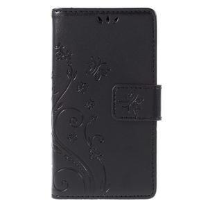 Butterfly PU kožené pouzdro na mobil Sony Xperia Z3 Compact - černé - 3