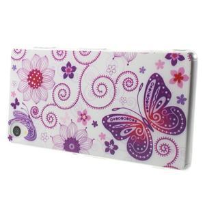 Ultratenký gelový obal na mobil Sony Xperia Z3 - pohádkový motýl - 3